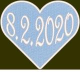 Herz in Hellblau mit Ihren Datum