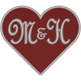 Herz mit ihren Initialen