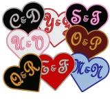 Das Lieblingsherz in den Farben Ihrer Wahl mit Initialen