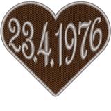 Herz in Braun mit ihren Datum