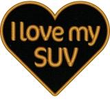 Das Lieblingsherz in den Farben Ihrer Wahl mit Statement I love my SUV