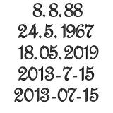 Das Lieblingsherz in den Farben Ihrer Wahl mit Datum